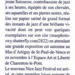 article dans 'Jazz Hot'