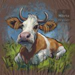 La Vache, cow, portrait