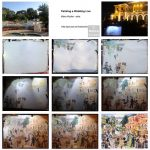 Event live painting steps, étapes, peinture aquarelle, watercolour,