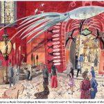 Musée Océanographique - event watercolour, pencils, aquarelle, crayons,