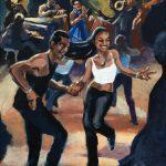 Salsa dance ! acrylic painting, peinture acrylique, salsa danse, live music, musique live, Cuba