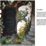 Peinture murale - TNN Théâtre National de Nice, Theatre wall painting, hommage à la nature, tribute to nature landscape, paysage, animals, animaux