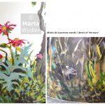 Peinture murale - detail souris Théâtre National de Nice, Theatre wall painting, hommage à la nature, tribute to nature landscape, paysage, mouse, becs, abeilles