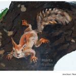 Peinture murale - detail écureuil Théâtre National de Nice, Theatre wall painting, hommage à la nature, tribute to nature landscape, paysage, squirrel