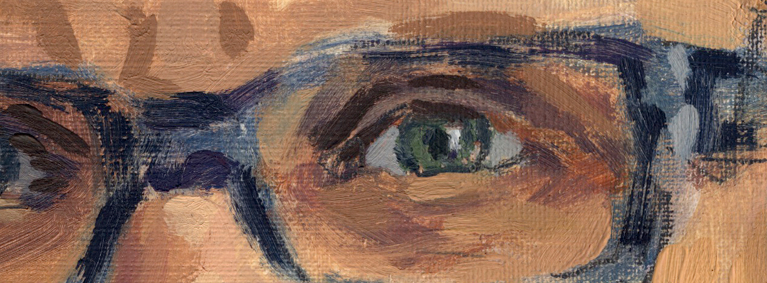 image of close up of eyes from self portrait by Maerta Wydler