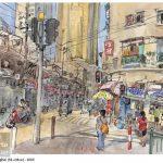Shanghai Guang Dong - Watercolour