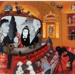 Allegory CINEMA - 81x65cm acrylic painting, peinture acrylique, 81x65cm, 2007 allégorie, cinéma, movie