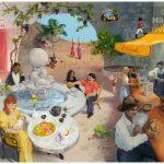 Allegory DRINK - 81x65cm acrylic painting, peinture acrylique, 81x65cm, 2007 boissons, boire, bar, water, allegorie