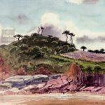 Bretagne - aquarelle watercolour, landscape, paysage
