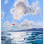 La mer à Nice Peinture à l'huile, oil painting, french riviera, sea, sky, ciel