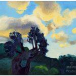 L'olivier le matin peinture à l'huile, oil painting olive tree, morning light, landscape, paysage