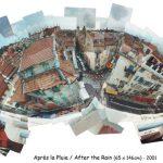 Après la Pluie, photomontage 65x146cm Nice, mediterranean, méditerranéen Old town, Vieux Nice, 2001 Toits, roofs, after the rain