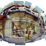 Cafés Indiens, photomontage 58x140cm Nice, mediterranean, méditerranéen Old town, Vieux Nice, café, 2001 torrefaction artisanale