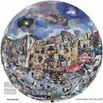 Rue Rossetti, photomontage 145x145cm Nice, mediterranean, méditerranéen Old town, Vieux Nice, place Rossetti Cathédrale St Réparante