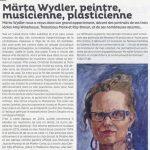Article dans la Strada Märta Wydler