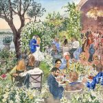 Wedding at Chèvre d'Or, wedding watercolor aquarelle mariage wedding watercolor painting aquarelle mariage